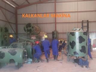 تستخدم آلة تنظيف النفط البناء kalkanlar machina