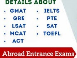 ID: 32, International Entrance Exams SAT, TOEFL, GMAT, GRE, MCAT, LSAT  and  IELTS